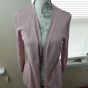 Dress Barn Nwt Crotchet pale pink cardigan